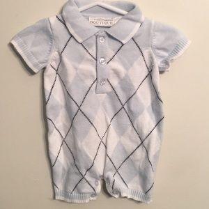 100 % Cotton Sweater Vest Onesie